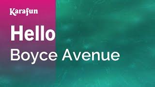 Karaoke Hello - Boyce Avenue *