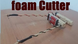 How to Make an Electric Styrofoam Cutter | Tutorial