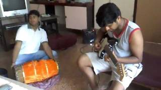 Instrumental music by Abhay(Guitar) and Uday(Mridangam)