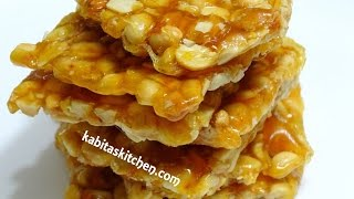 Peanut Chikki Recipe-Moongfali Chikki-Peanut Bar-Moongphali gud ki Chikki