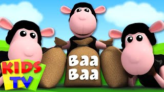 Baa Baa Black Sheep | 3D Nursery Rhymes | Kids Songs | Kids Tv Nursery Rhyme Videos For Kids