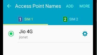 Samsung Galaxy J7 J5 J3 j2 Reliance Jio 4G LTE Sim VoLTE settings