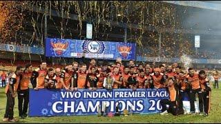 SRH Vs RCB CHAMPIONS Vivo IPL Final Celebration At Night 29th May 2016