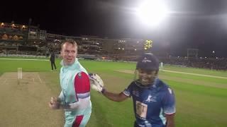 Brendon McCullum & Mahela Jayawardene batting with a GoPro