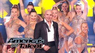 "Pitbull: Mr. Worldwide Sings ""Fireball"" With The Rockettes - America"