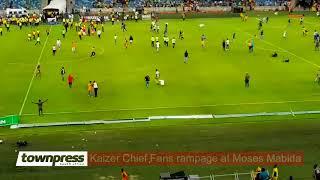 Kaizer Chief Fans rampage at Moses Mabida