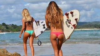 KALOEA Surfer Girls - Surfing The Pass, Byron Bay (HD)