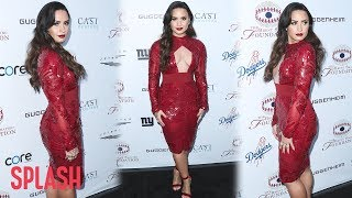 Demi Lovato Stuns in a Red Dress at Alcohol and Drug Prevention Event | Splash News TV
