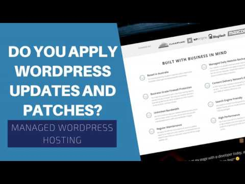 WP Hosting FAQ - Do You Apply Wordpress Updates And Patches?