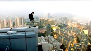 Rooftop Escape BTS - Psycho security KICKS us! 🇭🇰