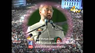 Asaduddin Owaisi Addressing Milad un Nabi Jalsa at Darussalam