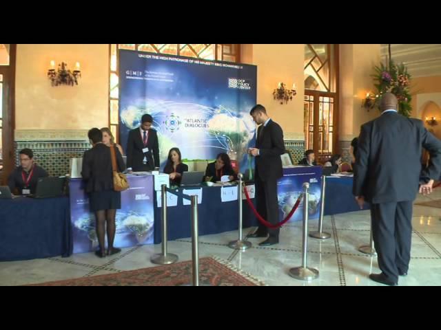Ambiance à l'ouverture de Atlantic Dialogues à Marrakech