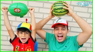 Watermelon Smash Challenge for Kids with Jason!