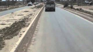 Driving around on base in Balad