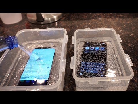 Samsung Galaxy S9 Plus vs iPhone X Sparkling Water FREEZE Test What's Gonna Happen