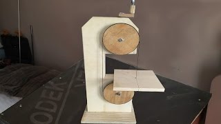 Making a Homemade Bandsaw (drill powered)  - El Yapımı Şerit Testere