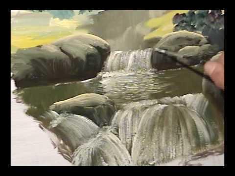 Pintura de pedras e cachoeiras redirecionar para o meu site