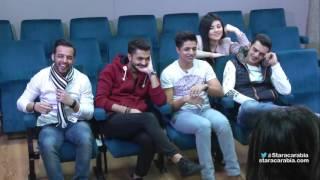 انيس بو رحلة و دينا عادل في صف المسرح مع بيتي توتل - ستار أكاديمي 11 - 02/12/2015