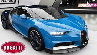 Forza Horizon 4 - Bugatti Chiron - Customization, Top Speed, Review