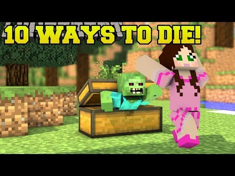 Minecraft STRANGEST DEATHS POSSIBLE 10 MORE WAYS TO DIE Custom Map