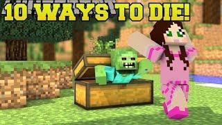 Minecraft: STRANGEST DEATHS POSSIBLE!!! 10 MORE WAYS TO DIE - Custom Map