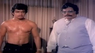 Arjun Sarja  Six Pack - Thanthai Mel Annai Movie Scenes - Arjun, Hema
