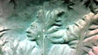 Giant Indian Alien Face on Google Earth, Canada, Millions of years old, UFO Sighting news.