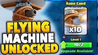 Clash Royale FLYING MACHINE UNLOCKED ✅ LOVE THIS NEW CARD