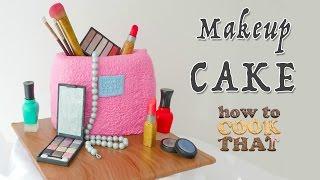 MAKEUP CAKE How To Cook That Ann Reardon make up birthday cake