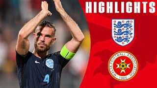 England Score 3 Late Goals to See Off Malta! | Malta 0-4 England | Official Highlights