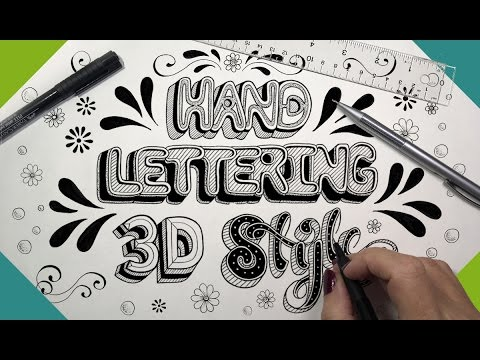 Hand Lettering 3D Style