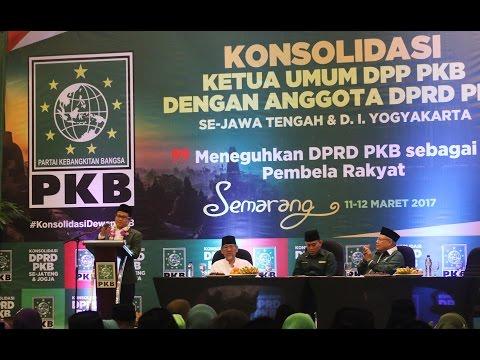 Konsolidasi Dewan PKB Jateng & DIY, Cak Imin: Legislator Harus Berpihak ke Masyarakat