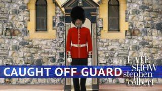 A Royal Guard Takes In The Royal Wedding