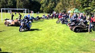 Motosraz Zlatá Koruna 17.9.2011 - odjezd na vyjížďku