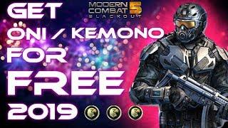 Win ONI And Kemono Events With ZERO Credits! 2019 | Modern Combat 5