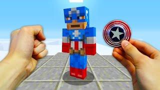 REALISTIC MINECRAFT - STEVE'S CAPTAIN AMERICA FIDGET SPINNER!⚡️