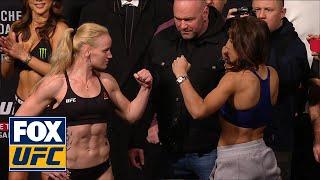 Joanna Jędrzejczyk faces off with Valentina Shevchenko | WEIGH-IN | UFC 231