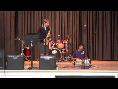13-year-olds Play Alto Sax and Tabla Indian Drums