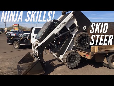 Awesome Bobcat Skid Steer skills on the job site video 1