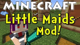 Minecraft Little Maid Mob Mod (Maid NPCs to the Rescue!)