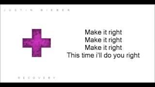 Justin Bieber   Recovery Lyrics Video