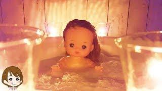 メルちゃん 泡風呂 特別なアロマ キャンドルでほっこり水遊び♪癒されちゃってください!おもちゃ 子供向け キッズ アニメ toy キャラメル