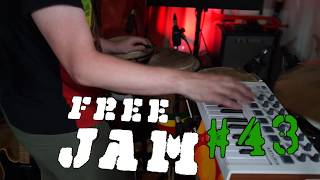 Free Jam 43: Live looping a mean monologue bass line and percussion