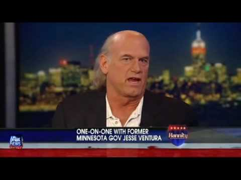 Shawn Hannity gets owned by Jesse Ventura on Shawn s own show.