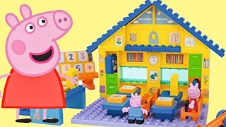 Peppa & George Pig School Construction Duplo Playset