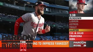 Did Bryce Harper shave his beard to impress the New York Yankees? | Pardon the Interruption | ESPN
