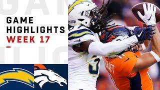 Chargers vs. Broncos Week 17 Highlights   NFL 2018