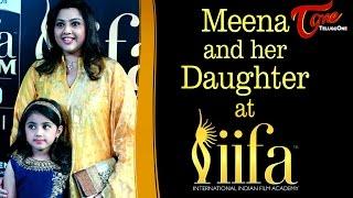Actress Meena and  Nainika At IIFA Utsavam 2017 #IIFAUtsavam2017
