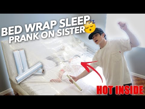 Xxx Mp4 PLASTIC WRAP BED SLEEPING PRANK ON SISTER Ranz And Niana 3gp Sex