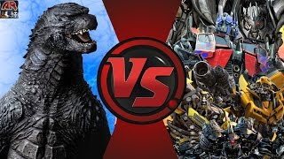 GODZILLA vs TRANSFORMERS! TOTAL WAR! (Godzilla vs Optimus Prime 3) Cartoon Fight Club Episode 126